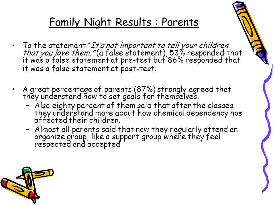Family Night Results : Parents