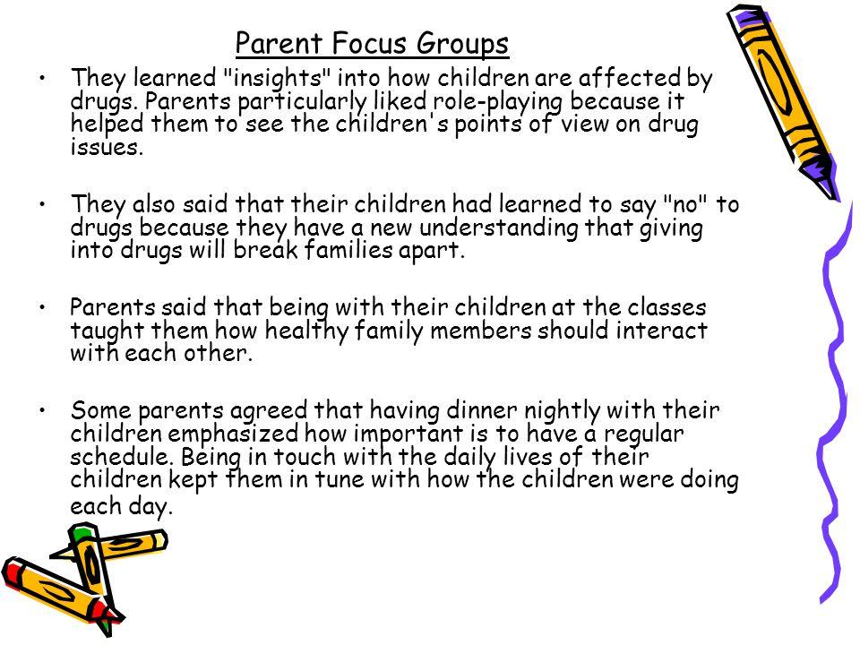 Parent Focus Groups