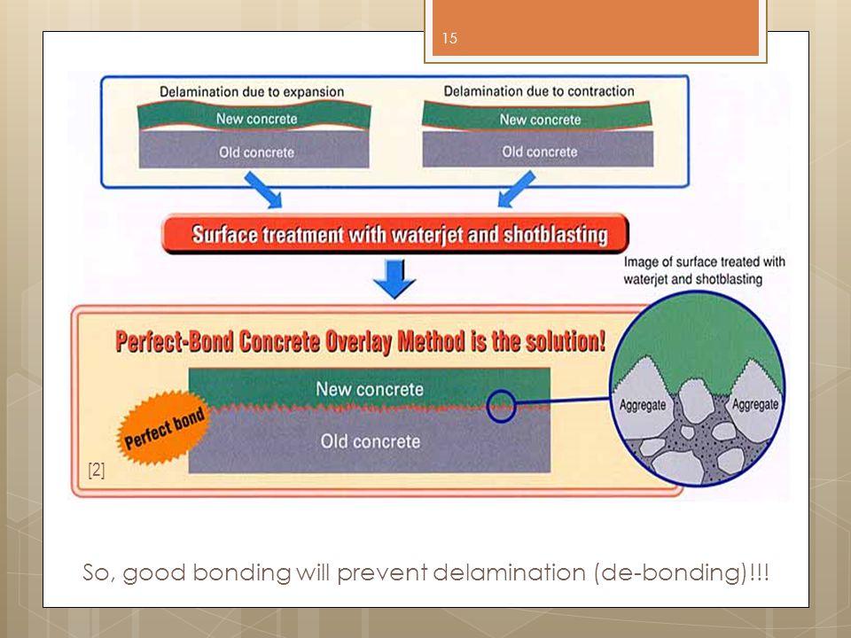So, good bonding will prevent delamination (de-bonding)!!!