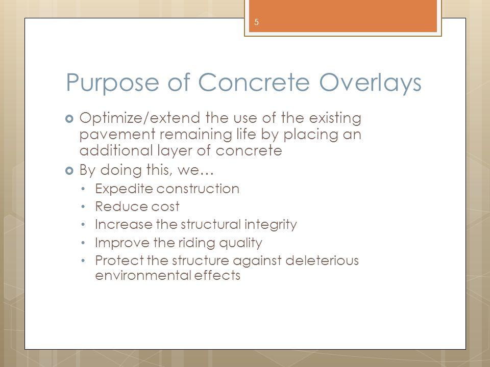 Purpose of Concrete Overlays