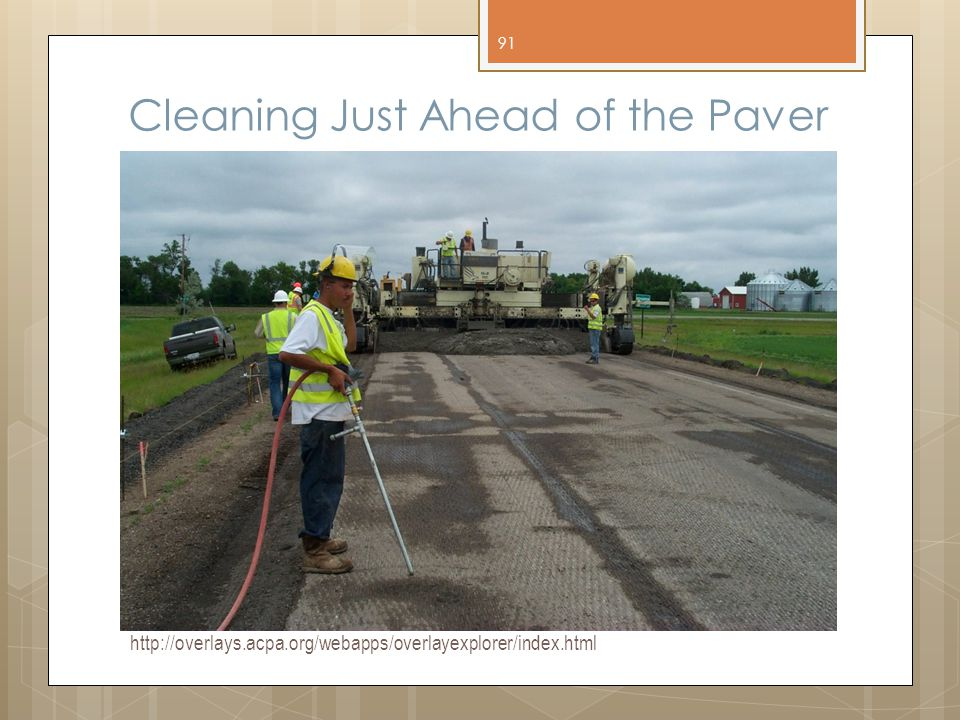 Cleaning Just Ahead of the Paver
