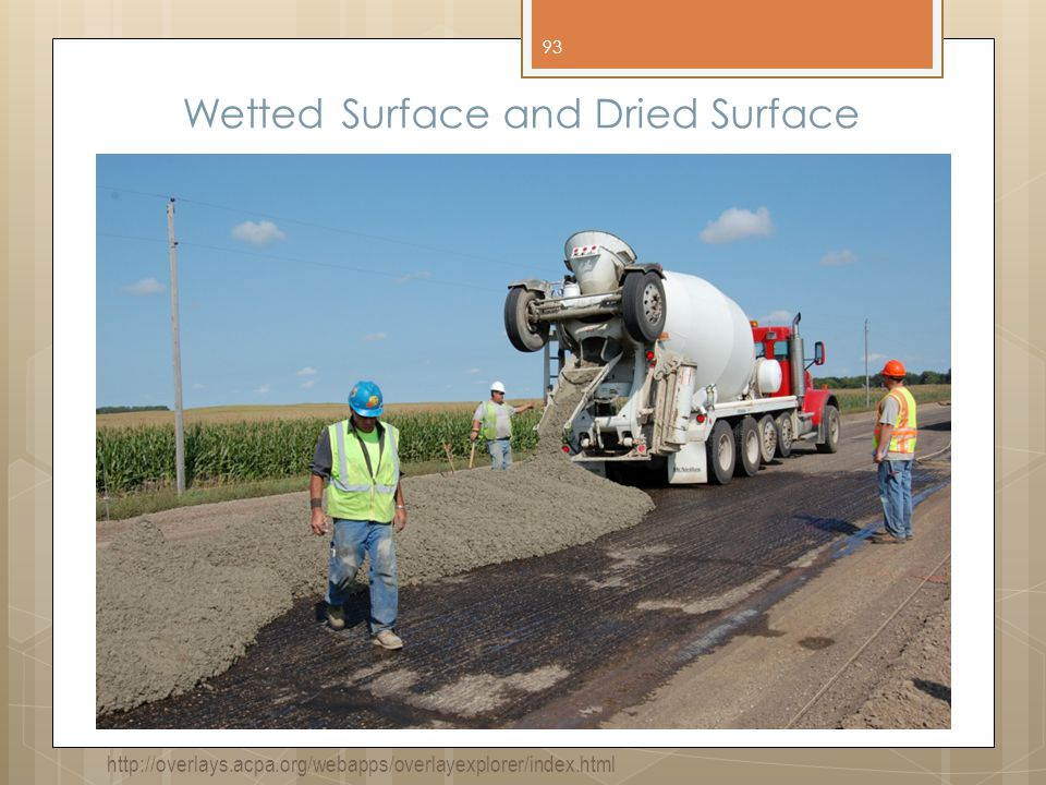 Wetted Surface and Dried Surface