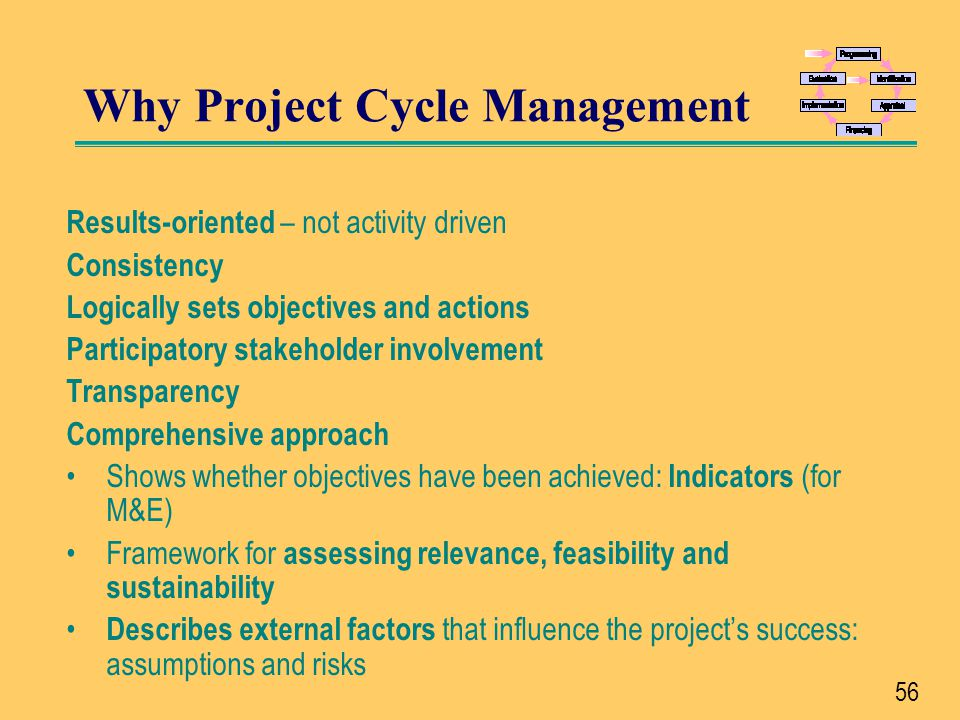 Why Project Cycle Management