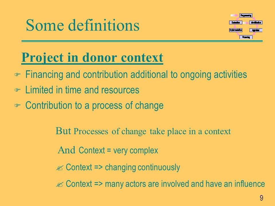 Project in donor context