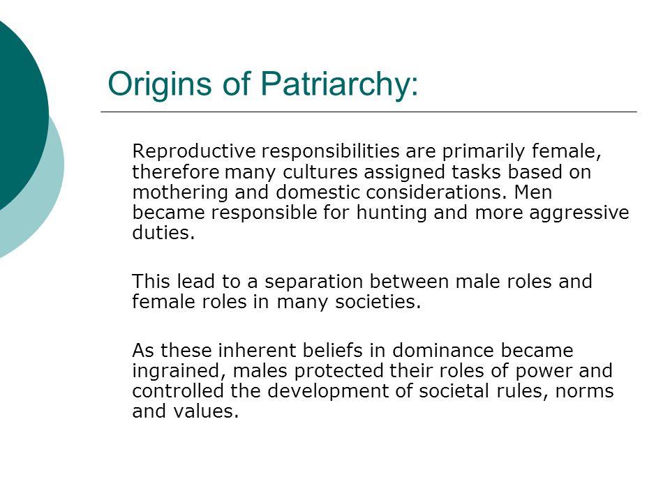 Origins of Patriarchy: