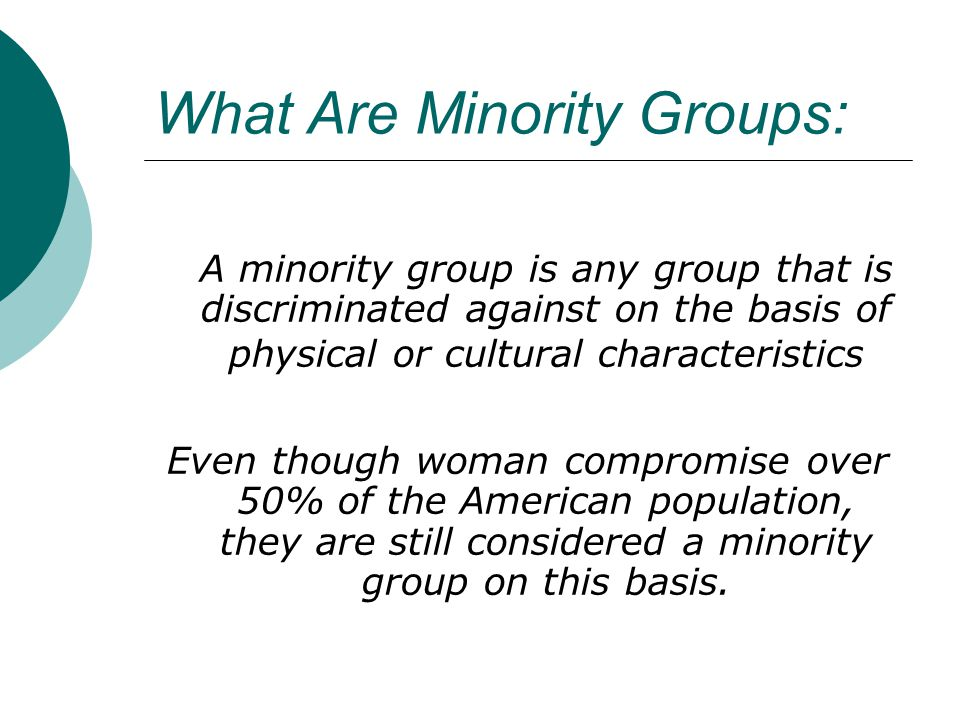 What Are Minority Groups: