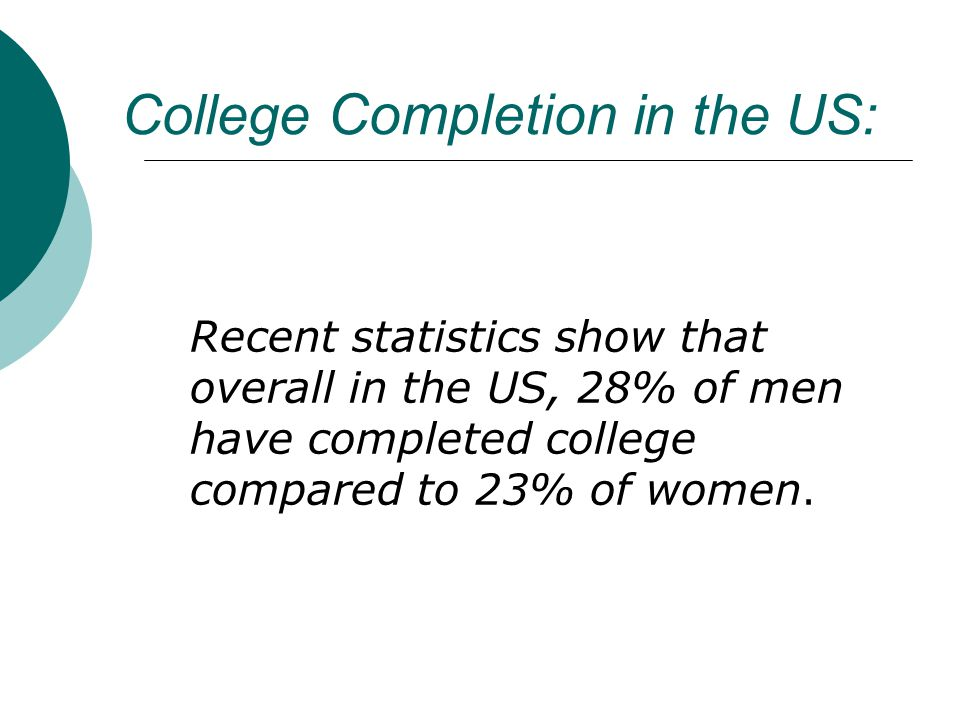 College Completion in the US: