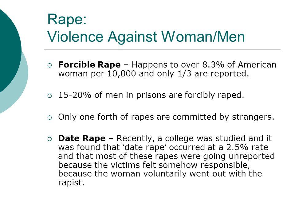 Rape: Violence Against Woman/Men
