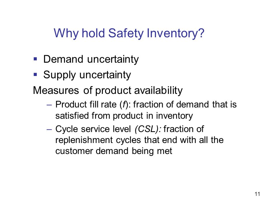 Why hold Safety Inventory