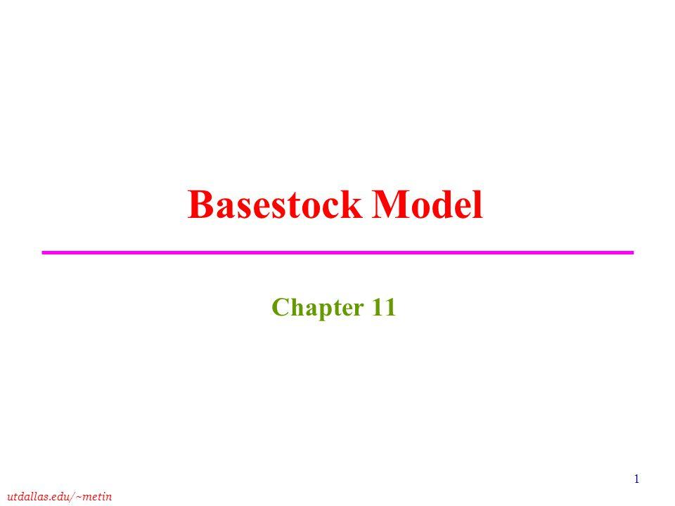 Basestock Model Chapter 11