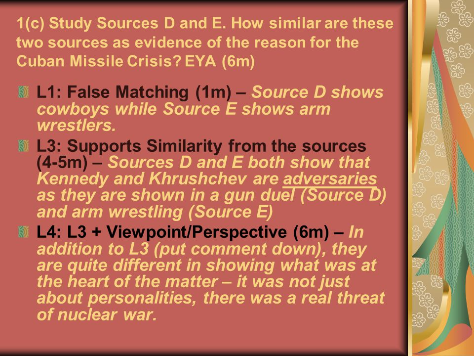 1(c) Study Sources D and E