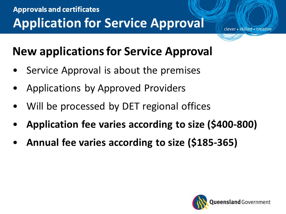 Application for Service Approval