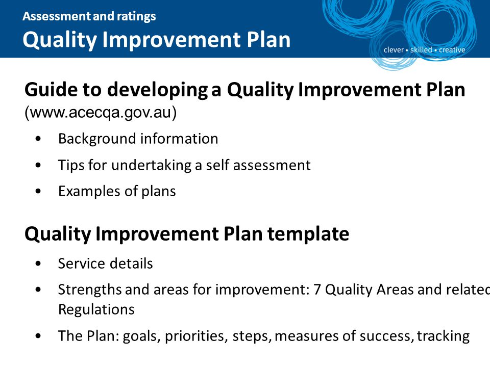 National quality framework information session ppt download for Template for quality improvement plan
