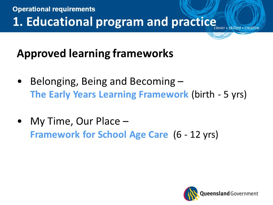 1. Educational program and practice
