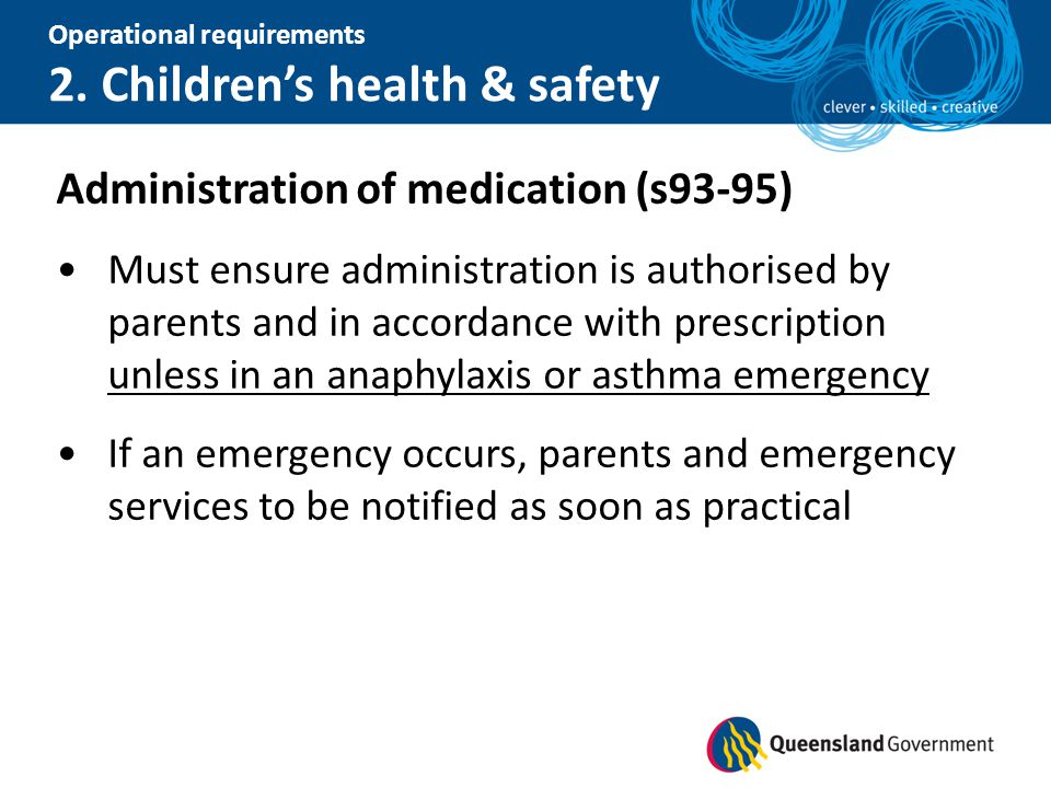 Administration of medication (s93-95)