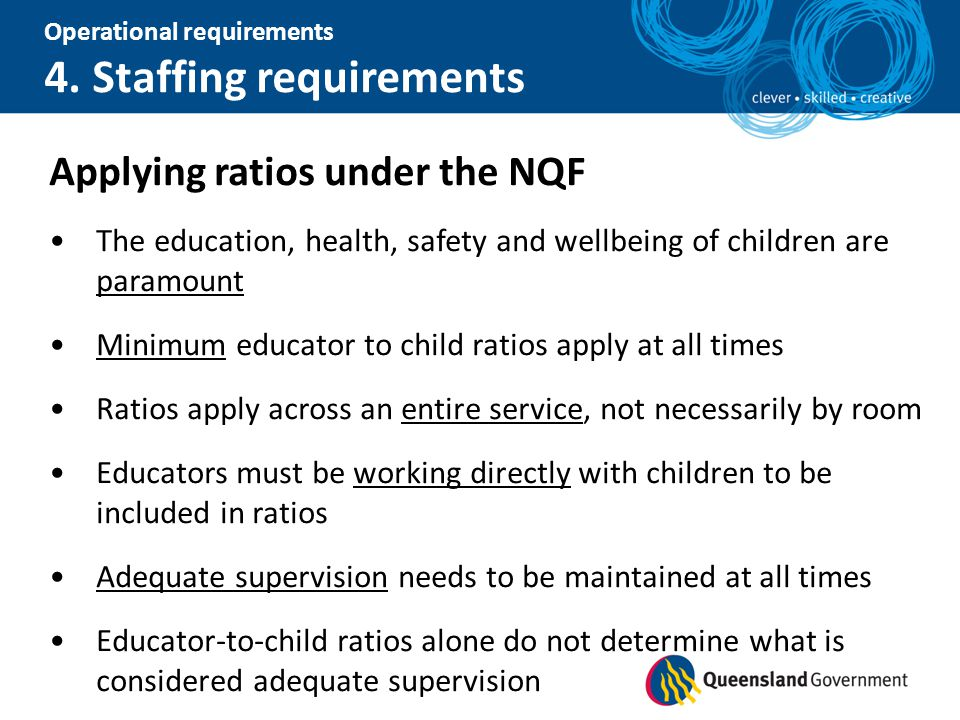 Applying ratios under the NQF
