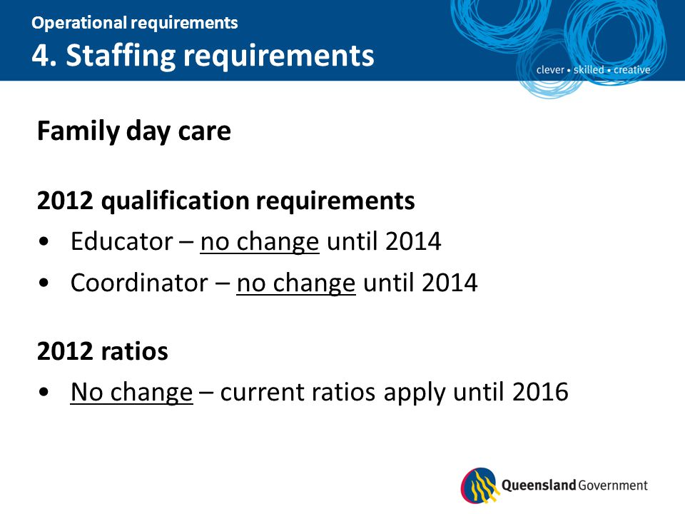 Family day care 2012 qualification requirements