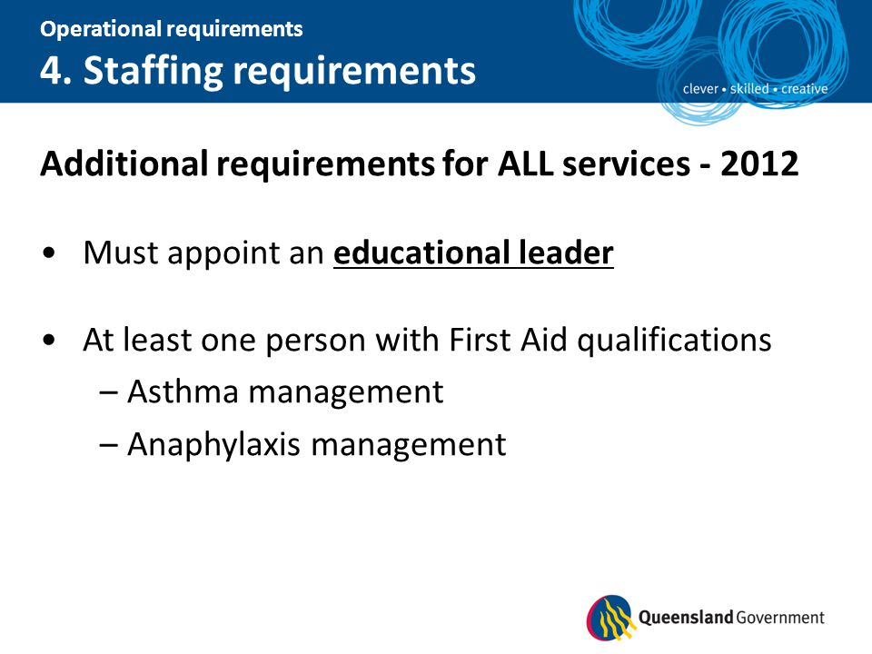 Additional requirements for ALL services - 2012