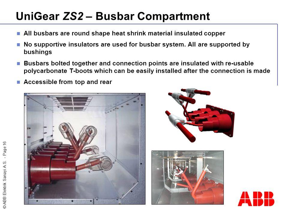 UniGear ZS2 – Busbar Compartment