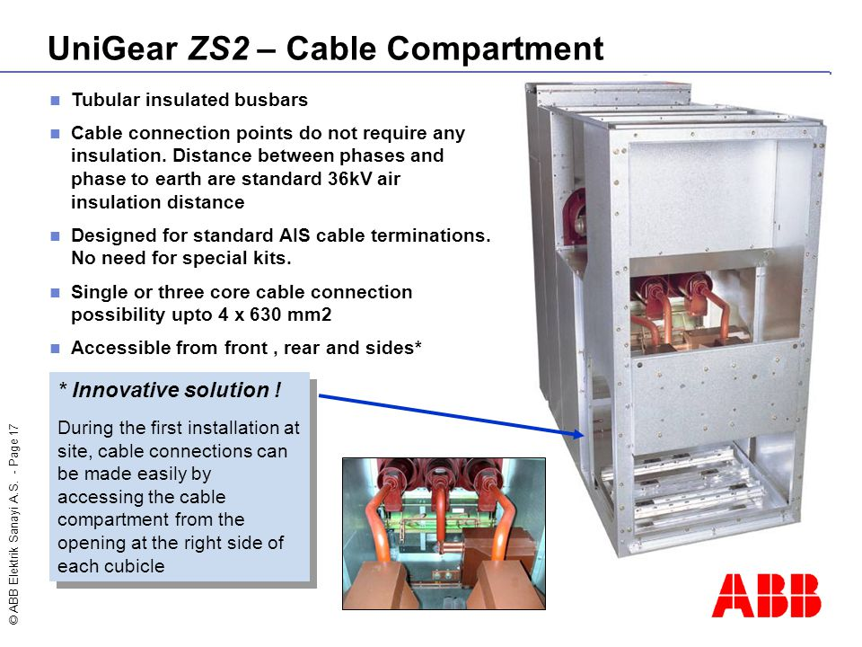 UniGear ZS2 – Cable Compartment