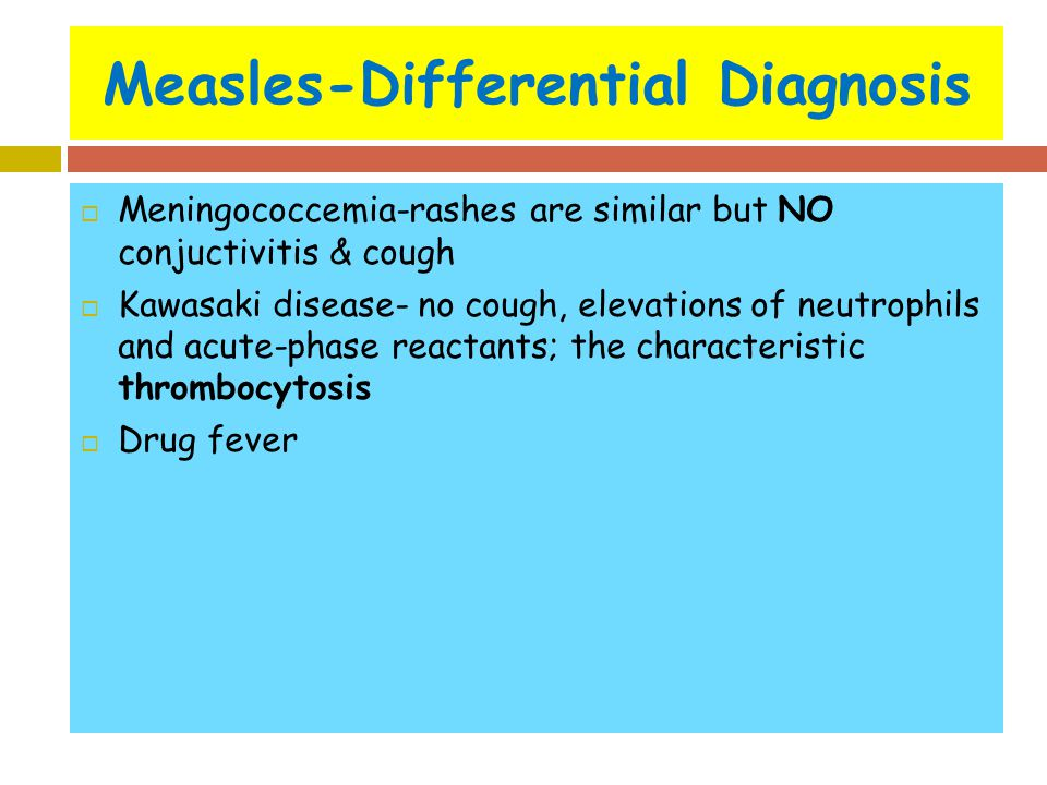 Measles-Differential Diagnosis