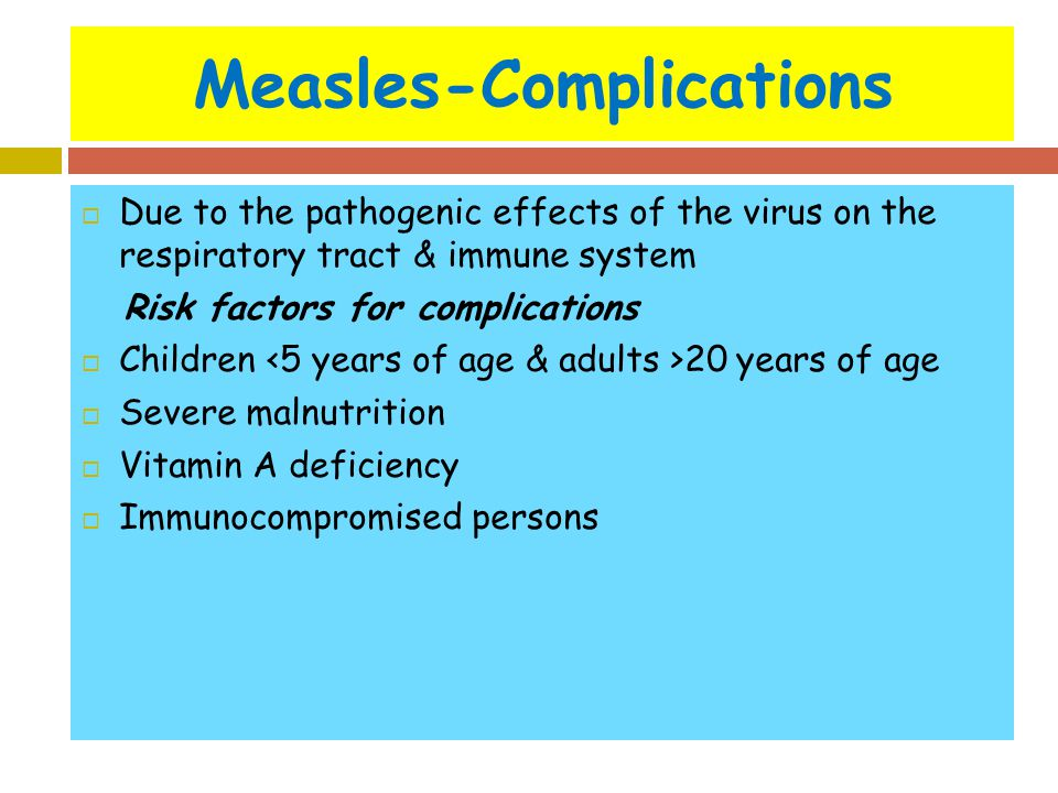 Measles-Complications