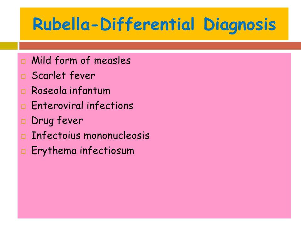 Rubella-Differential Diagnosis