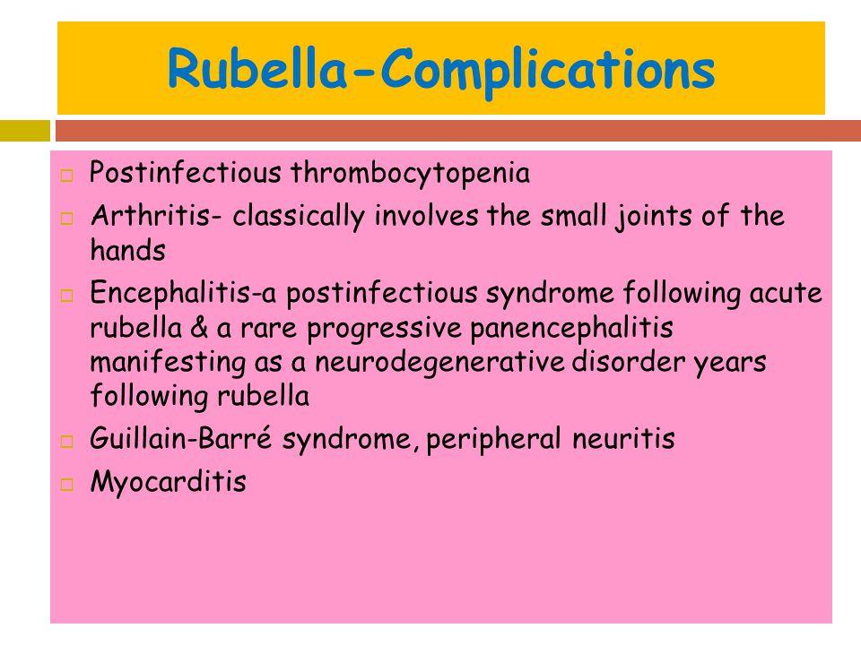 Rubella-Complications