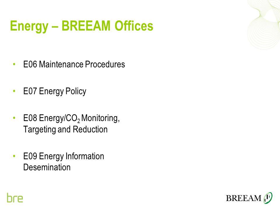 Energy – BREEAM Offices