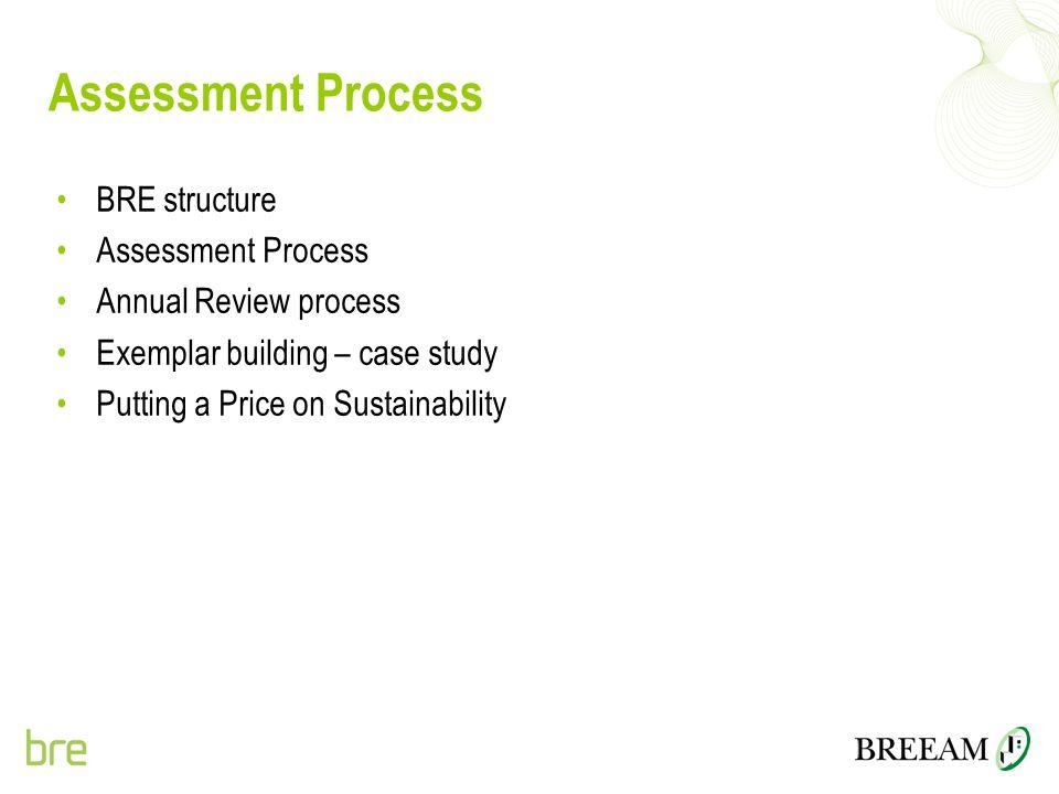 Assessment Process BRE structure Assessment Process