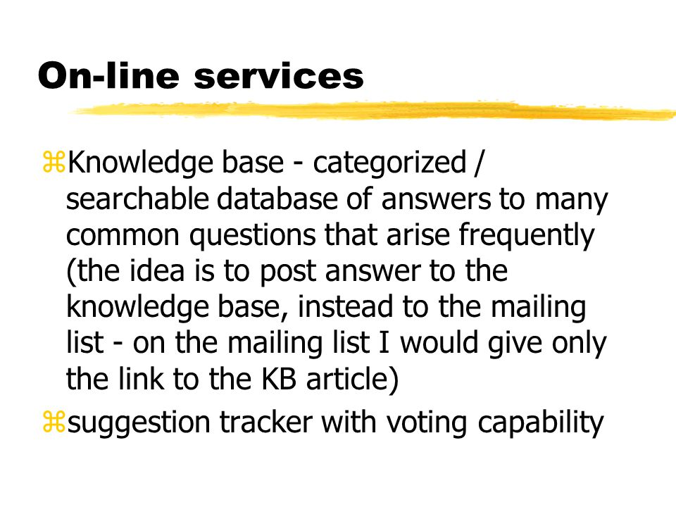 On-line services