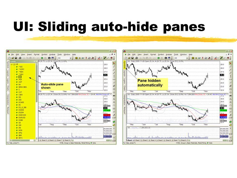 UI: Sliding auto-hide panes