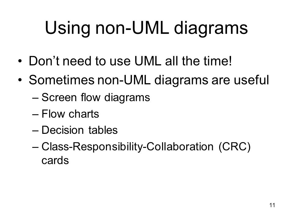 Using non-UML diagrams