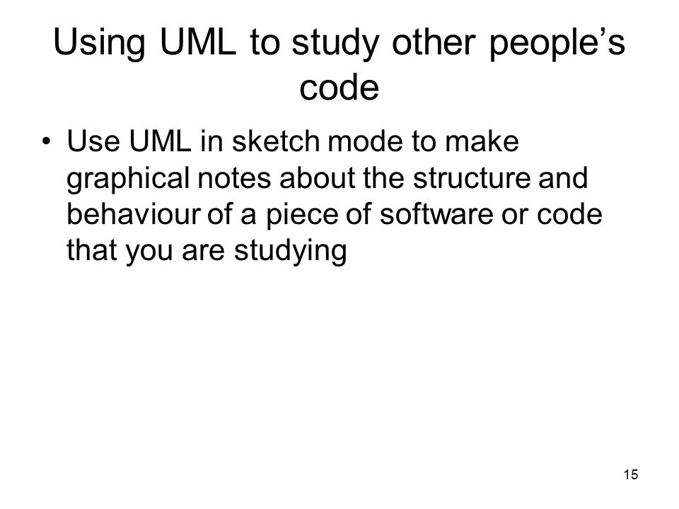Using UML to study other people's code
