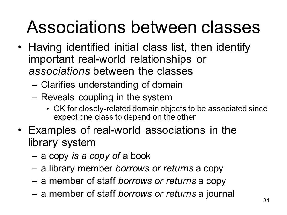 Associations between classes