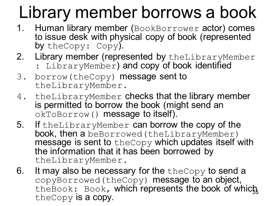 Library member borrows a book