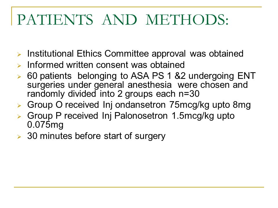 PATIENTS AND METHODS: Institutional Ethics Committee approval was obtained. Informed written consent was obtained.