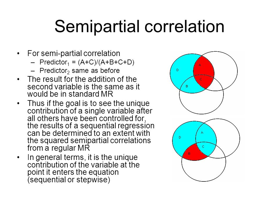 Semipartial correlation