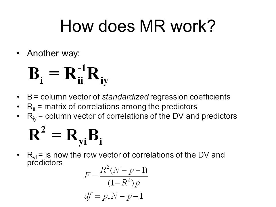How does MR work Another way: