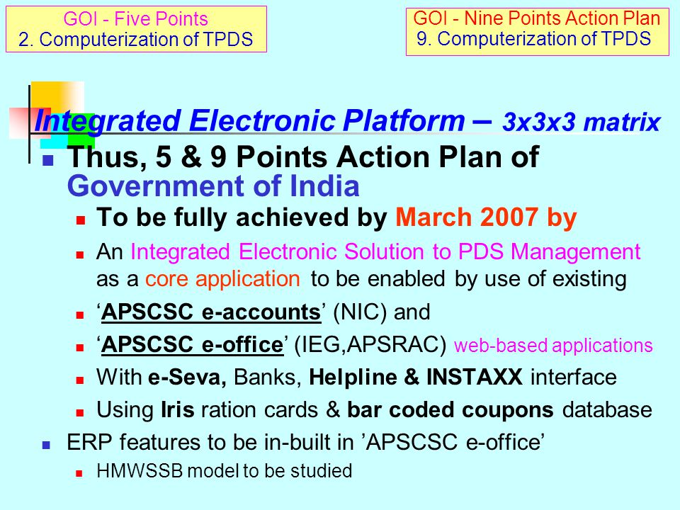 Integrated Electronic Platform – 3x3x3 matrix