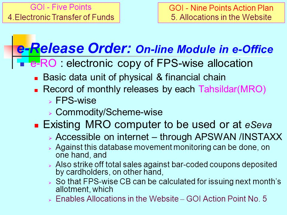 e-Release Order: On-line Module in e-Office