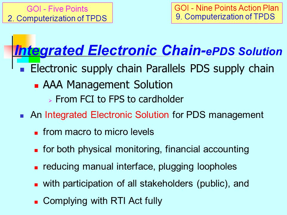 Integrated Electronic Chain-ePDS Solution