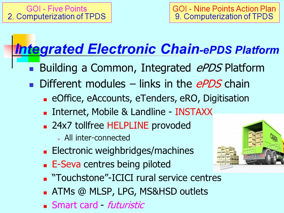 Integrated Electronic Chain-ePDS Platform