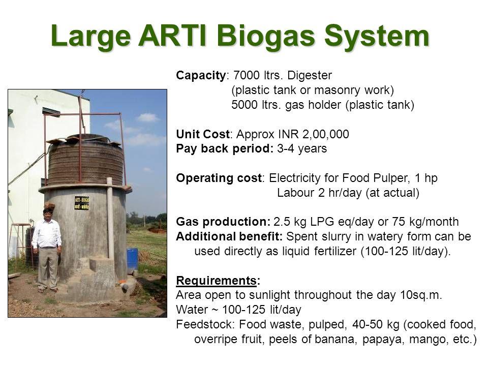 Large ARTI Biogas System