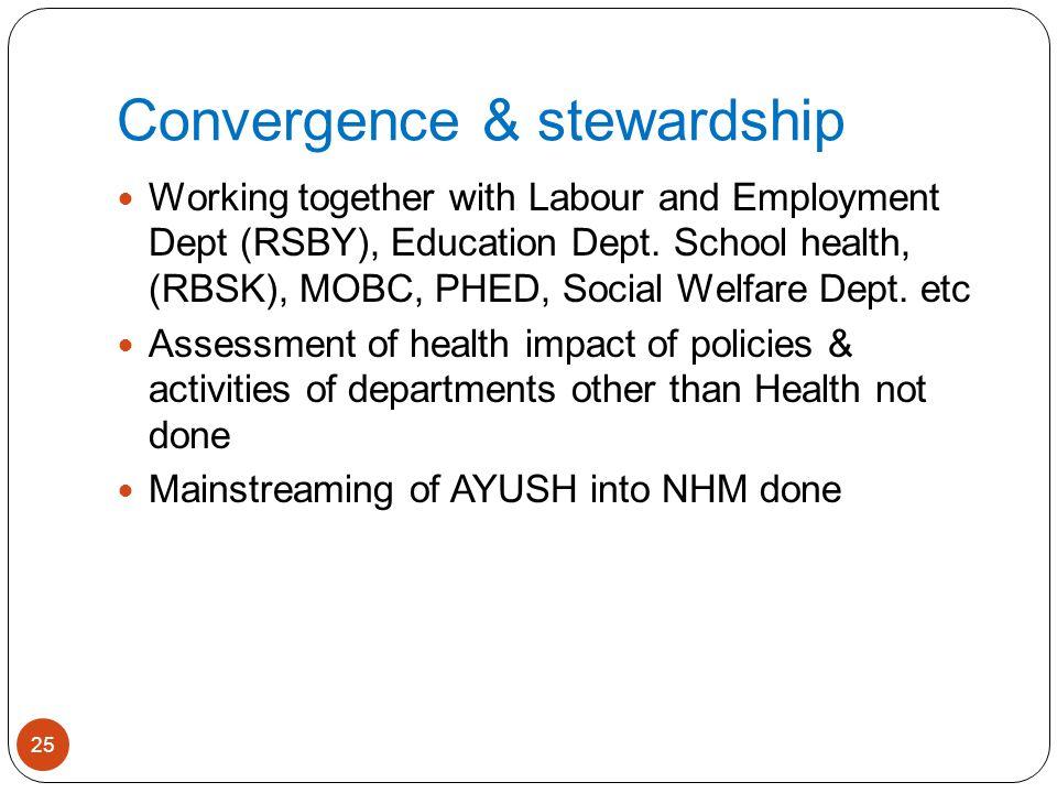 Convergence & stewardship