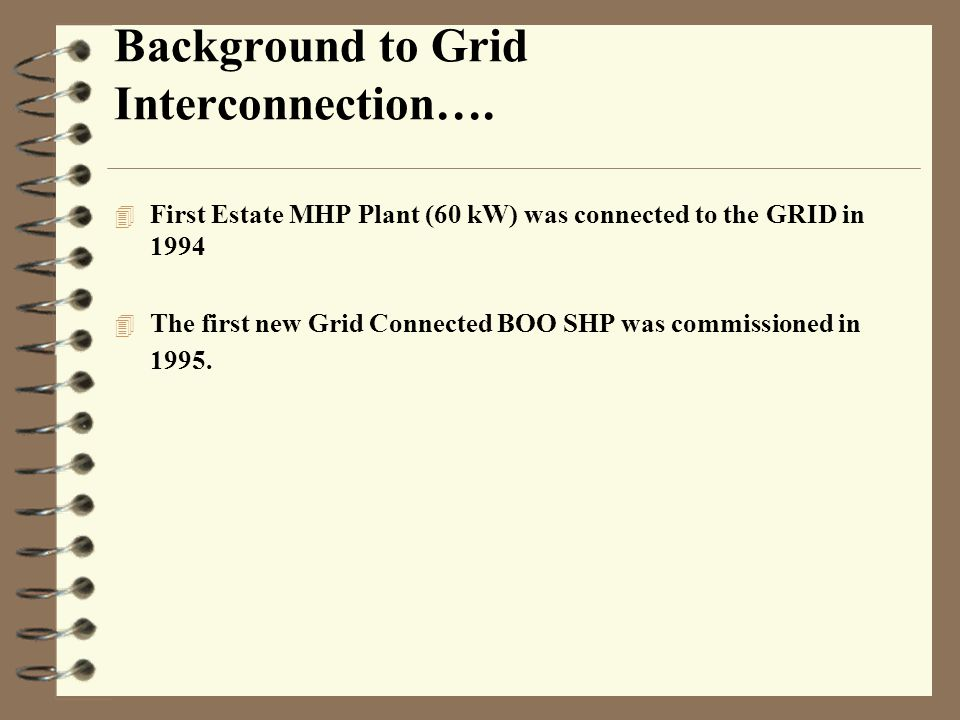 Background to Grid Interconnection….