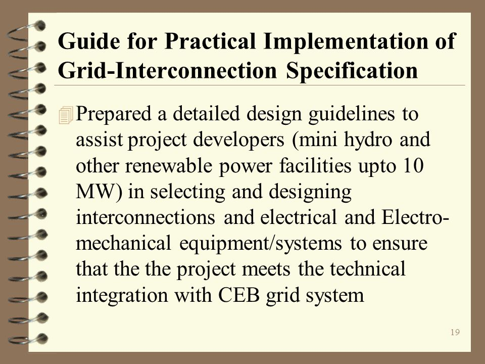 Guide for Practical Implementation of Grid-Interconnection Specification