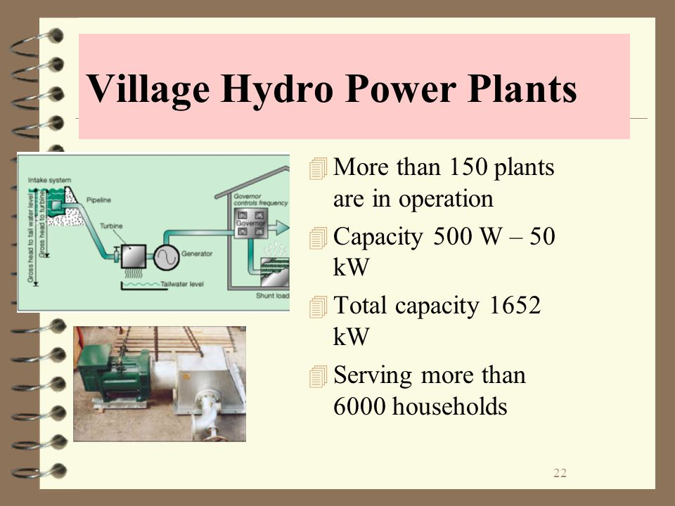 Village Hydro Power Plants