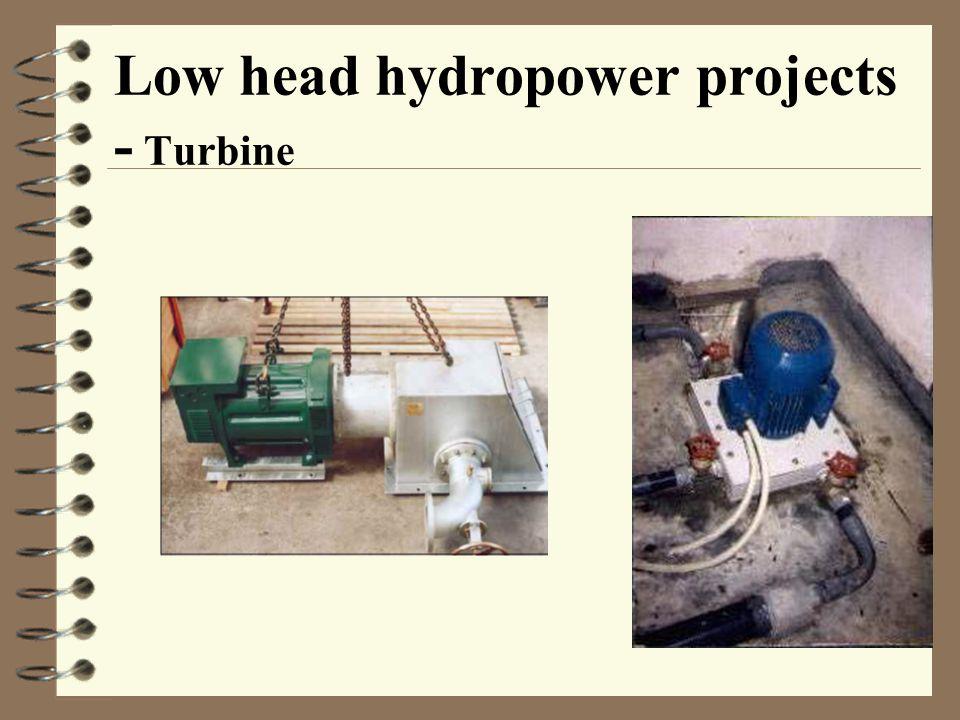 Low head hydropower projects - Turbine