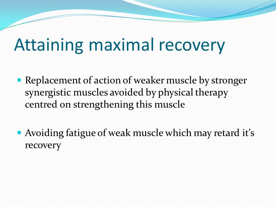 Attaining maximal recovery